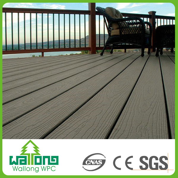 Leisure style long service life plastic wood floor guangzhou