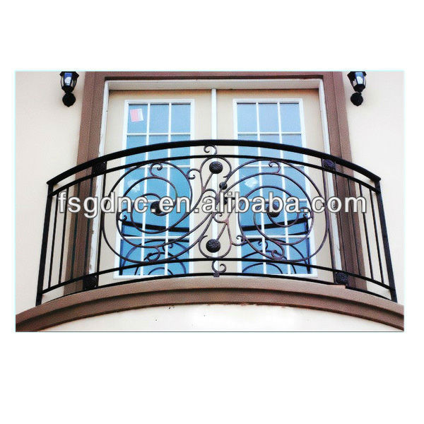 wrought iron balcony railing designs