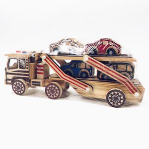 Arts Deco Transport Vehicle Toy Model Handicraft Wooden Model Car For Decoration