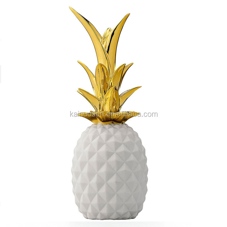 electroplate ceramic pineapple home decoration