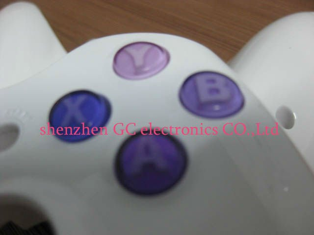 gradient Purple abxy+guide buttons for xbox360 controller