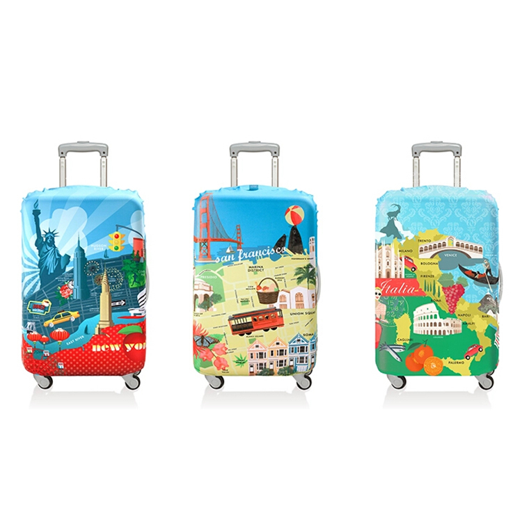 Wholesale Spandex & Polyester Luggage Case Cover Protector Luggage Cover