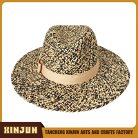 Customized Design Straw Cowboy Hat for Woman