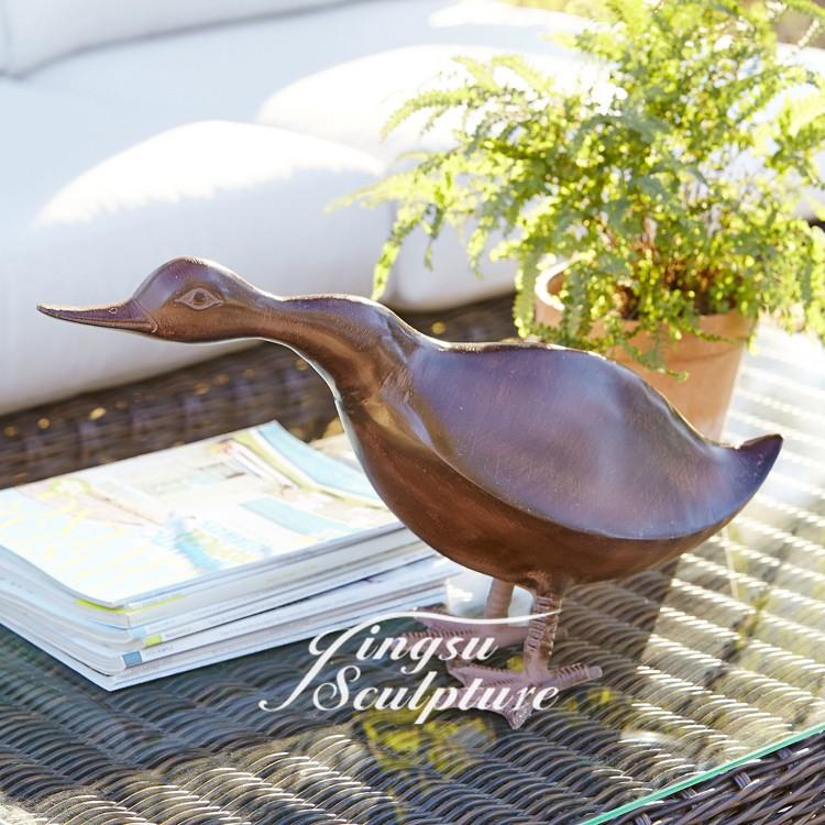 Home decoration bronze duck statue buy bronze duck for Duck decorations home