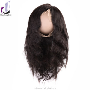 8a raw virgin unprocessed human hair lace closure brazilian deep wave 360 frontal half wig