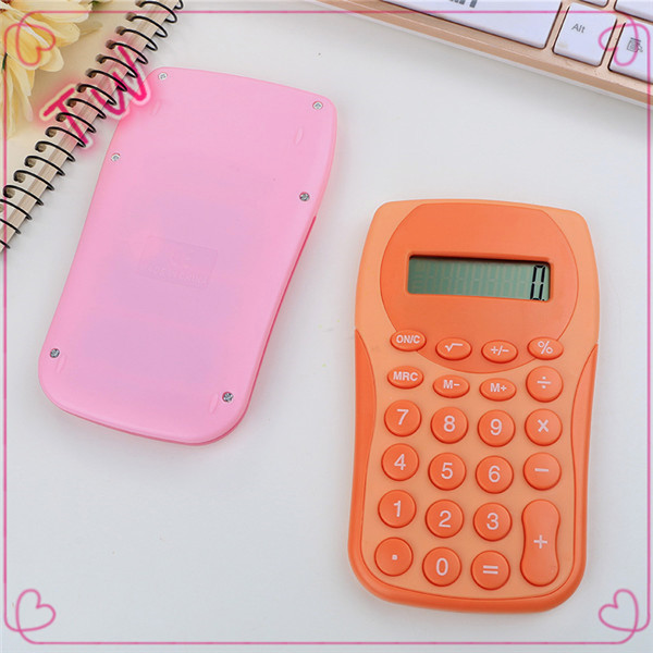 Europe Hot Selling cute stationery custom Eco friendly colorful Natural plastic Solar financial calculator for office use