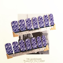 White purple Sexy Flower Nail Arts Nail Sticker Waterproof Nail Decal Sticker Gel Polish French Manicure
