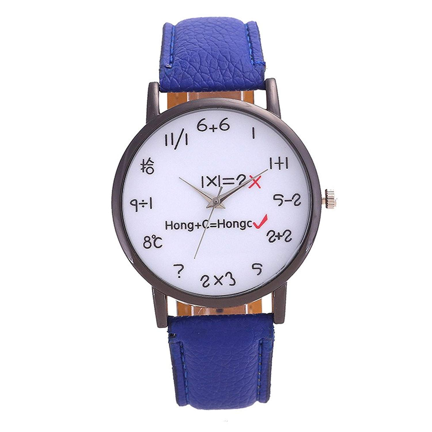 Watches For Women Men,POTO Unisex Quartz Women Watches Retro Cute Formula Aolly Round Wristwatch Womens Mens Leather Analog Quartz Wrist Watch For Teens Clearance On Sales
