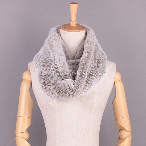 Rex Fur Neck Warmer Fur Scarf
