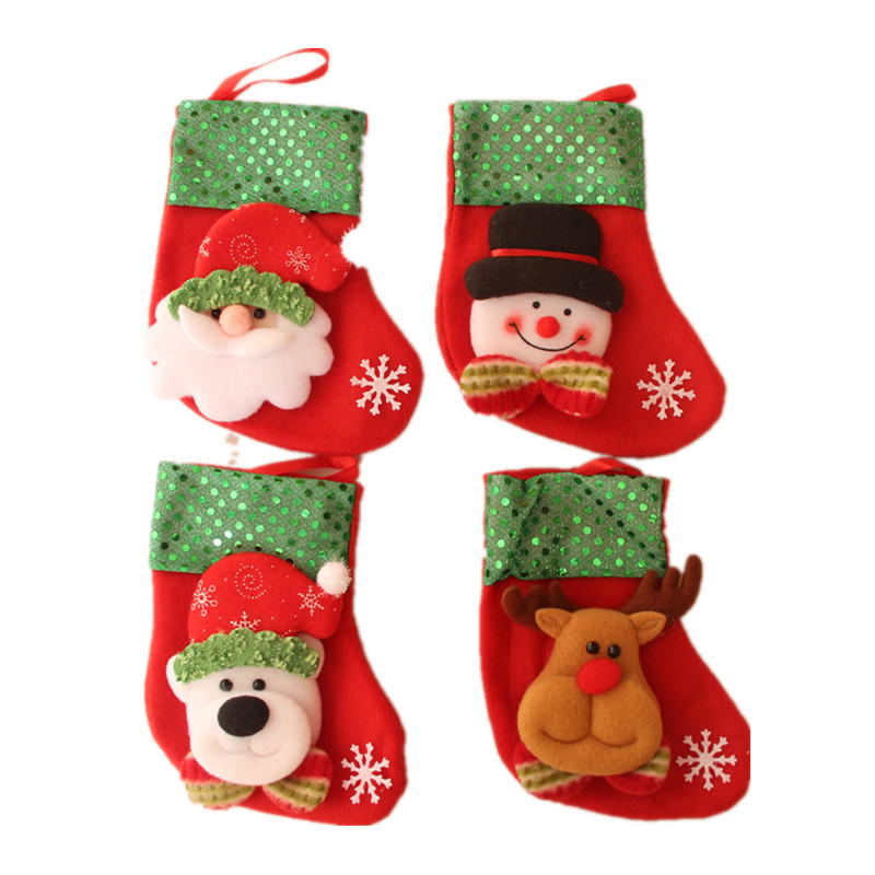 <strong>Christmas</strong> Stocking sock Gifts <strong>Christmas</strong> Tree Decoration Ornament Kerstversiering Decoration De Noel Santa Claus Gift Bags