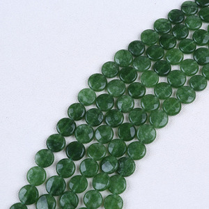 15mm Flat Faceted Round Gemstone Beads in Strands