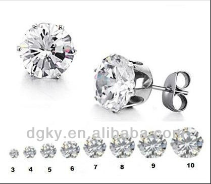 Surgical Steel Hypoallergenic Round Stud Earrings