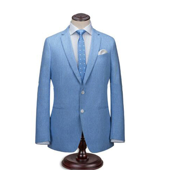Dry Cleaning Designer Tailored Suits For Men 100% Wool 2 Piece Men Suits