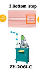 Automatische unsichtbare Reißverschluss-Fertigungsmaschine für das Stopfenschweißen am Reißverschluss