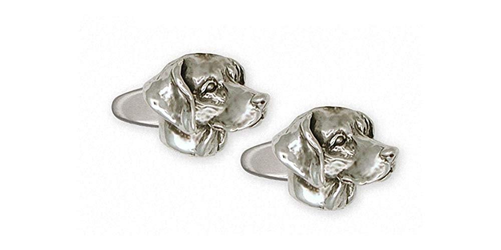 Weimaraner Cufflinks Jewelry Sterling Silver Handmade Dog Cufflinks WM1-CL