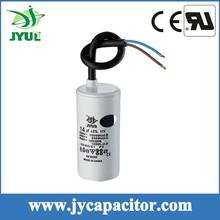 8UF 450V CBB60 taizhou generator motor run capacitor with cable