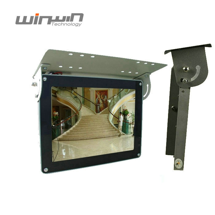 Breed Scherm Plafond Mount Bus Interactieve Digital Signage Metal Case Reclame Display LCD