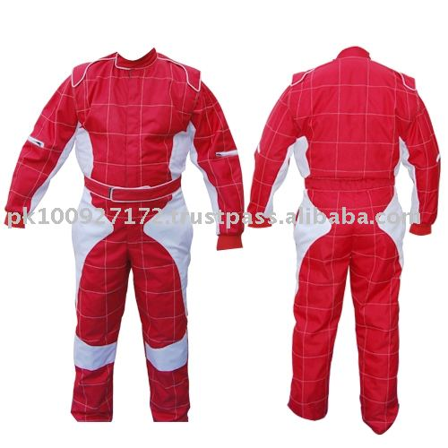 Karting Suit white and red combination