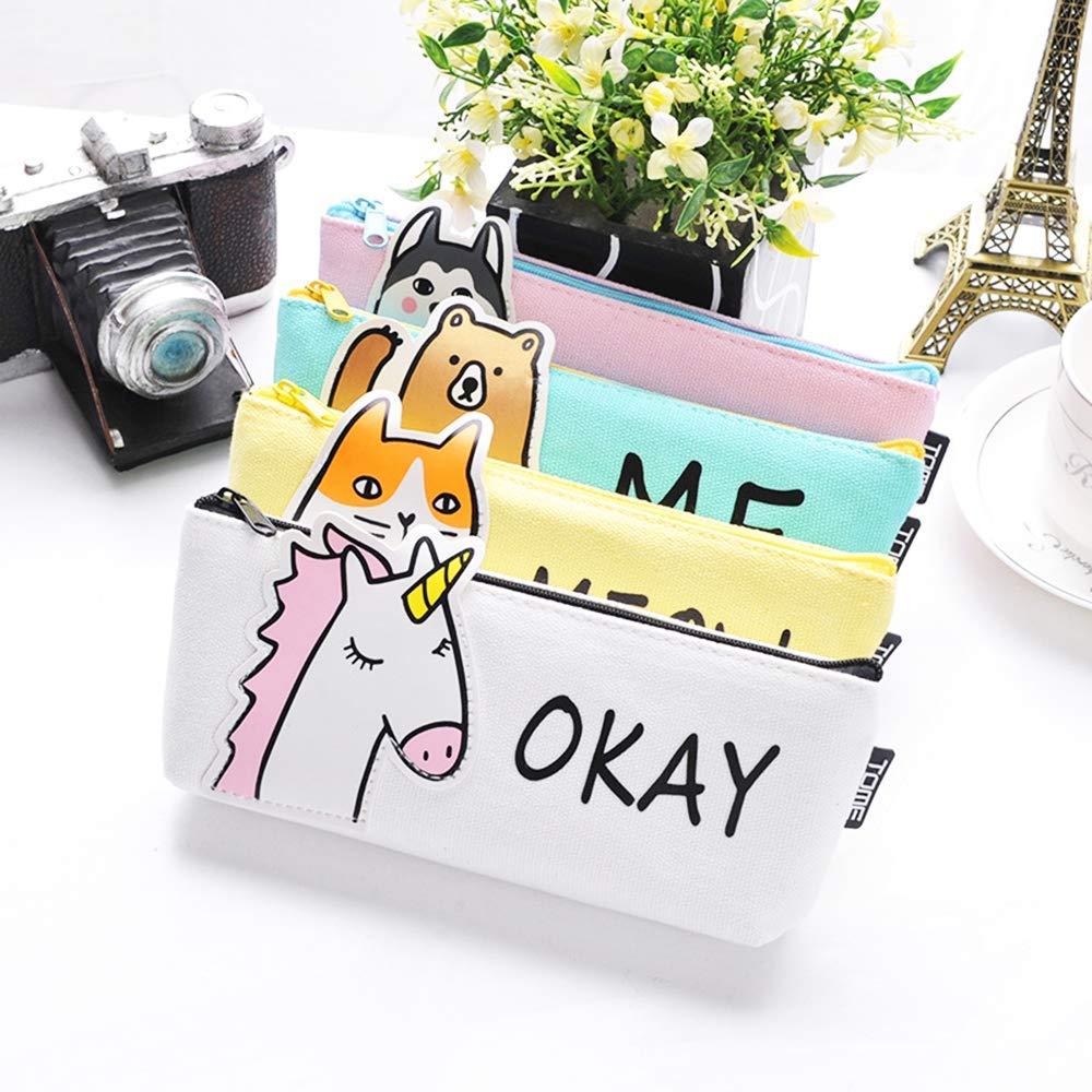 Luggage & Bags Cute Cartoon Unicorn Fabric Canvas Case Animal Box Flower Student Stationery Pouch School Supplies