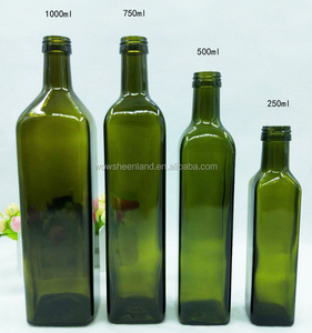 1000ml square glass olive bottle, chinese supplier olive oil glass bottle 1 liter wholesale
