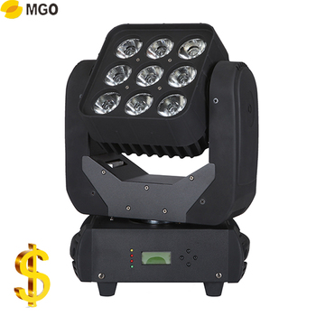 Sharpy 9x10W 4 IN 1 Led Moving Head Rgbw Wash Lighting