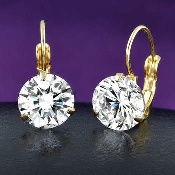 Elegant And Refined Fashion Clear Single Stone Earring