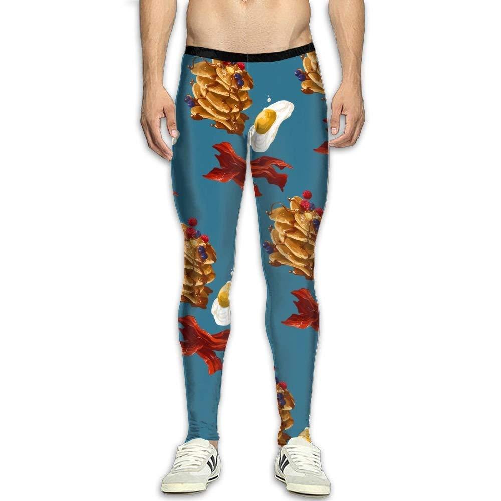 8c9203d48215e Get Quotations · ZAIZI Food Egg Men's Skins Print Compression Baselayer  Pants Men Panel Leggings For Travel Gym Tights