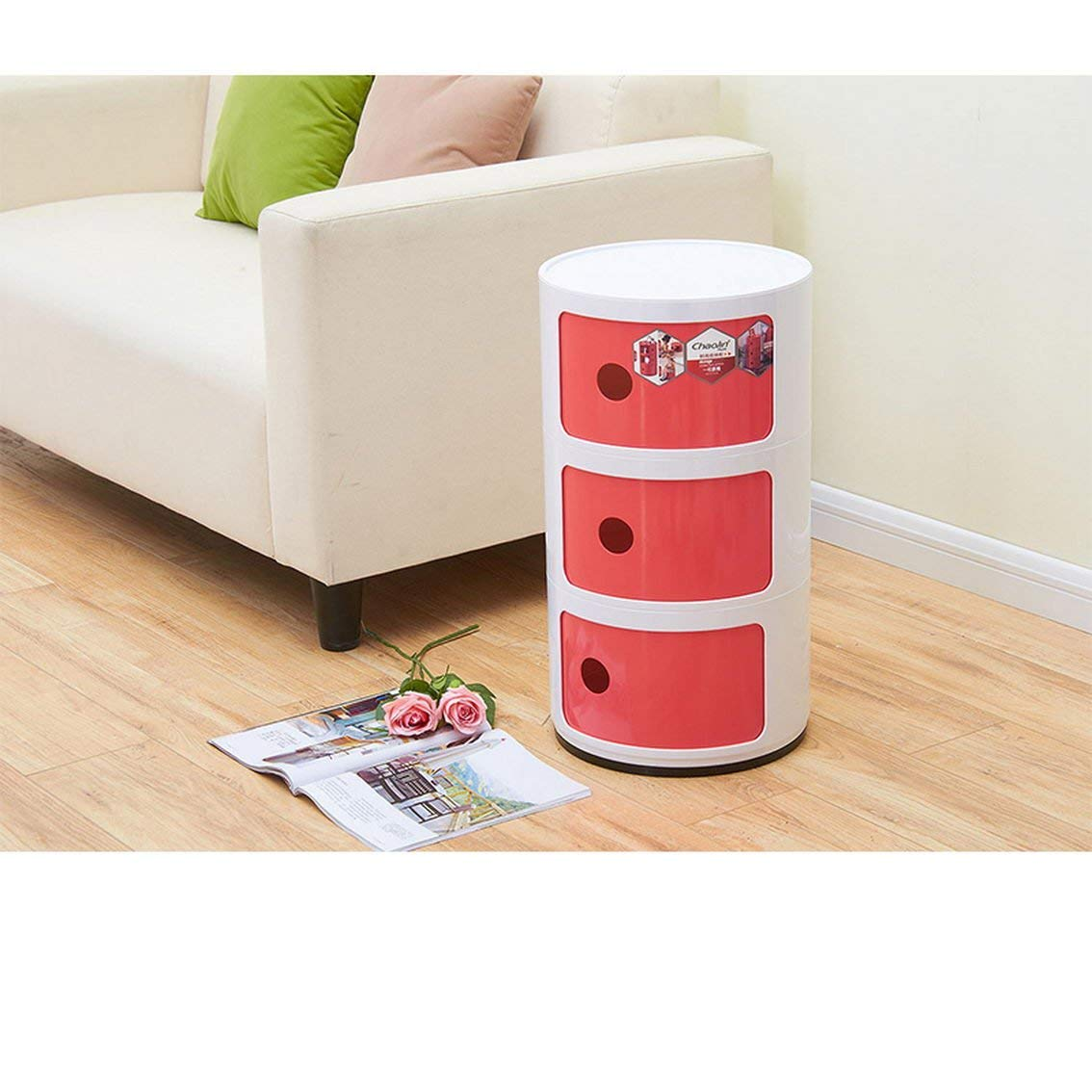 jii2030shann Mini bedside cabinets plastic round storage cabinets bedroom corners cabinets simple and modern multi-functional storage cabinet bedside cabinet corner cabinet minimalist modern nightsta