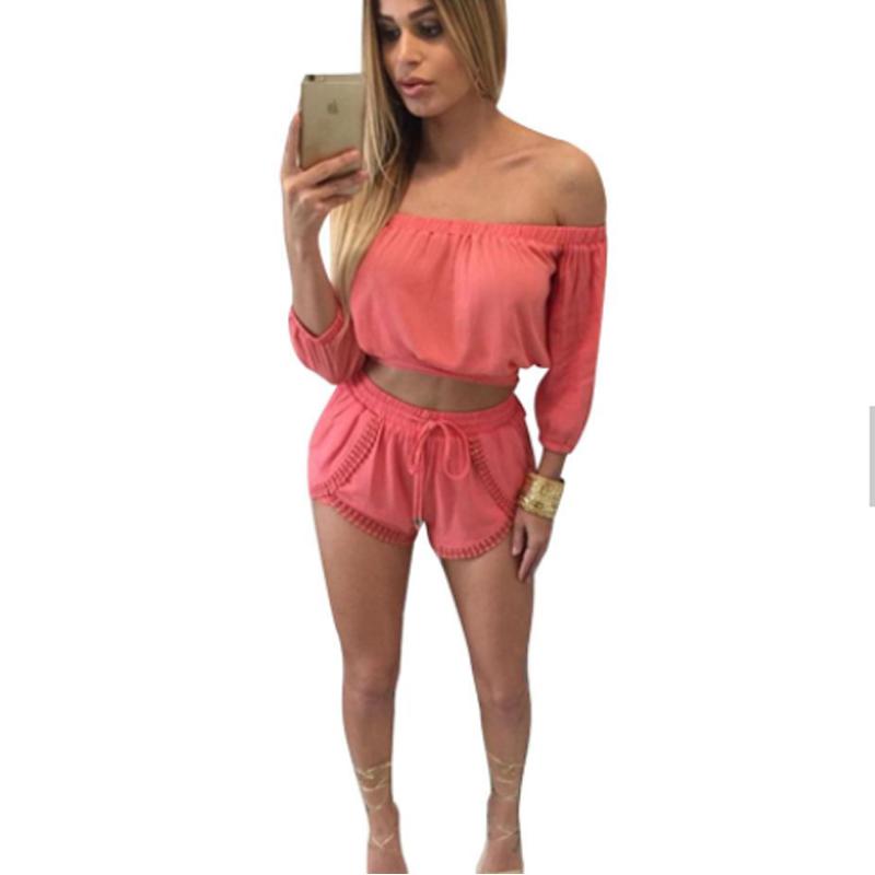 9b18525e14 Compras en línea de alta calidad de la nueva llegada mujeres moda de una  pieza Rosa