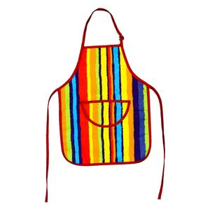 KEFEI hot sale printed art rainbow kids apron