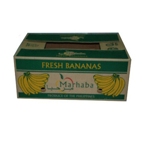 Customized banana fruit corrugated packaging carton box exported to Worldwide