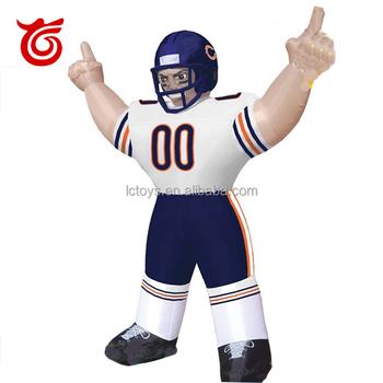 Personalizado Nfl Chicago Bears Inflable Permanente Bubba Jugador De ...