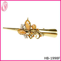 Popular Crystal Hair Grip Girls Butterfly Hair Clip Wholesale
