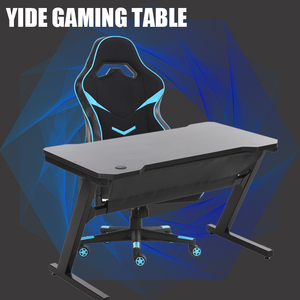 Z shape PC gaming wooden desktop office desk computer table