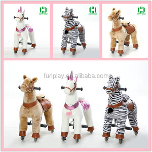 Hot sale mechanical ride on horse, kids toy horse on wheels