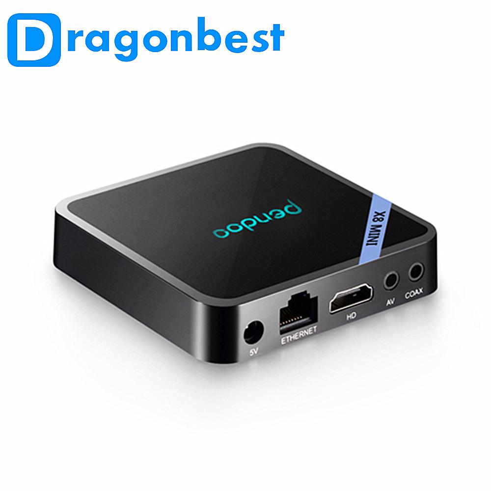 Pendoo x8 mini ott magic hd android tv box satellite receiver android smart accept paypal set top box tv smart 4k ultra hd фото