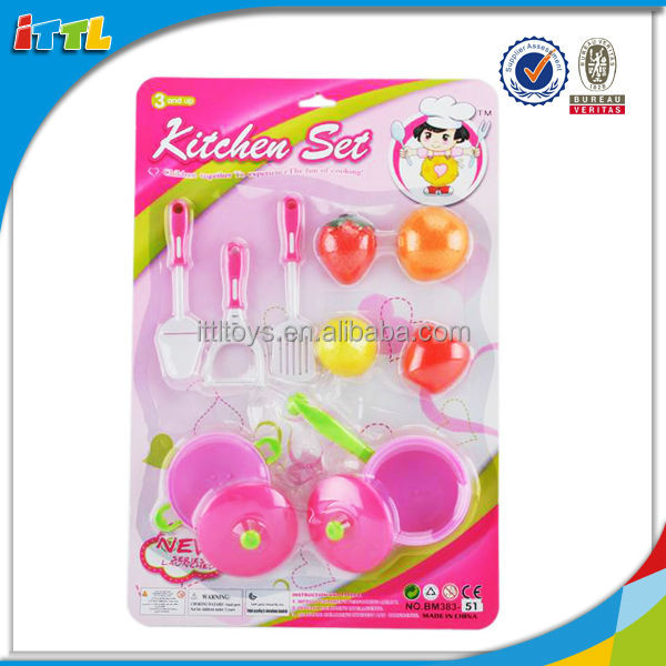 Hot sale kids cooking toy kitchenware set toy