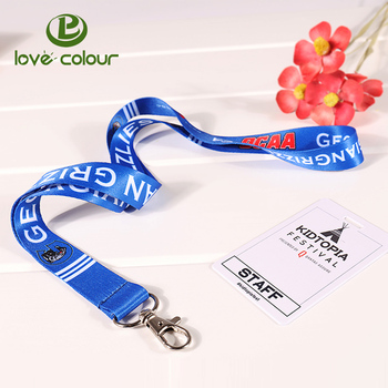 Guangzhou Manufacturer Cheap Custom 3/8'' Id Card 3/8'' Neck Lanyards Rope  With Metal Clip - Buy Lanyards Rope With Metal Clip,Cheap Custom 3/8''