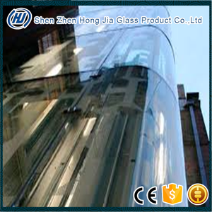 2-19mm curved glass price used commercial glass windows with CE certification