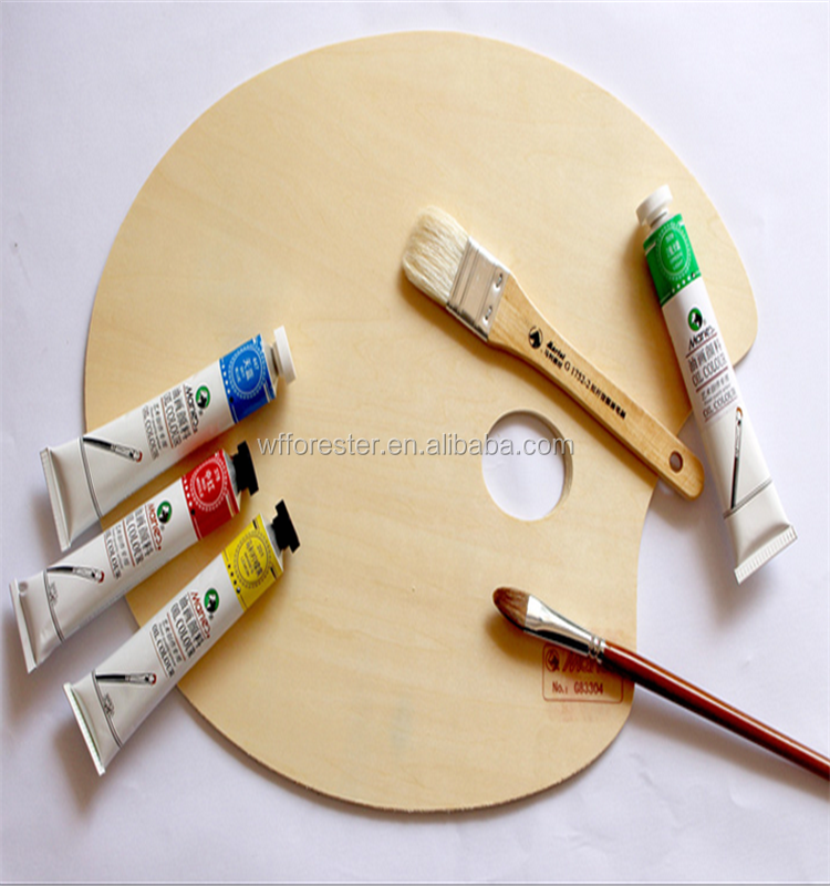 hot sale promotional artist wooden painting palette