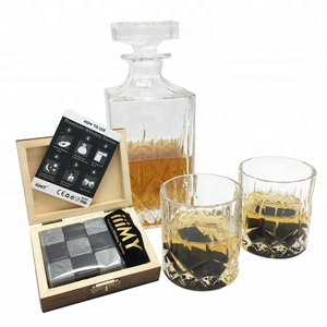 Bar Accessories reusable Metal Stainless Steel Cooling Ice Cube Stone for Wine Chilling Rocks Whiskey Stones Gift Set glasses