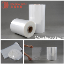 Jumbo rolls clear krimpkous plastic multilayer cross gelamineerd film