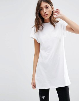 60944681384 2016 women apparel extend long t-shirts oversized womens blank cotton white  t-shirt