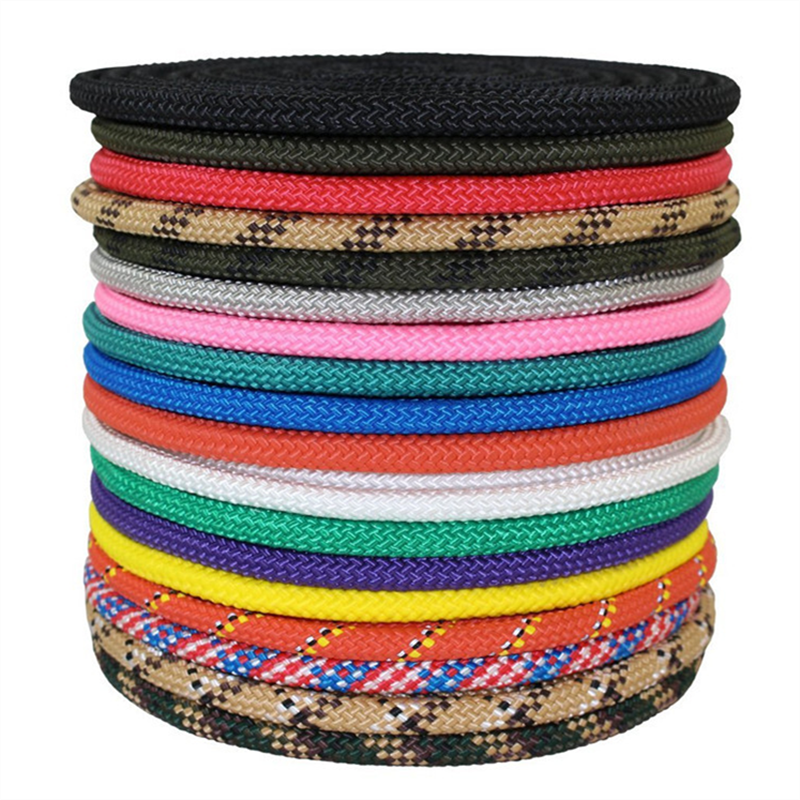 high quality thin twisted double braided polyester rope