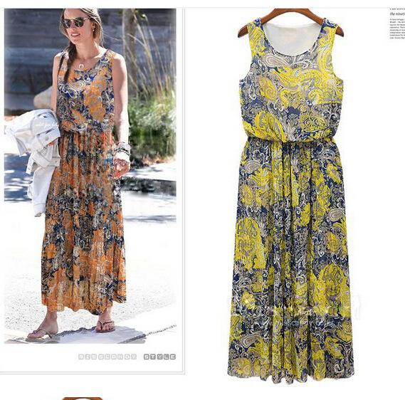 Талии рукавов шифона платье в цветочные платья