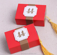 Personalized Themed Red Match Boxes Party Favors Candy Box