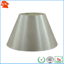 Hot selling simple design small modified drum silver hotel room light shade