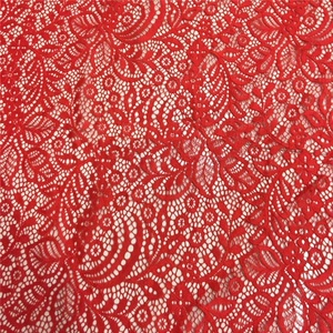 Specification cheap lace elastine fabric for wedding dress