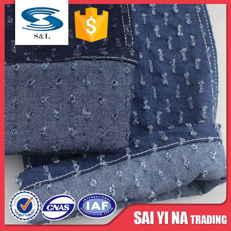 New style punching 78.1%cotton 20.2%tencel 1.7%spandex jeans denim fabric