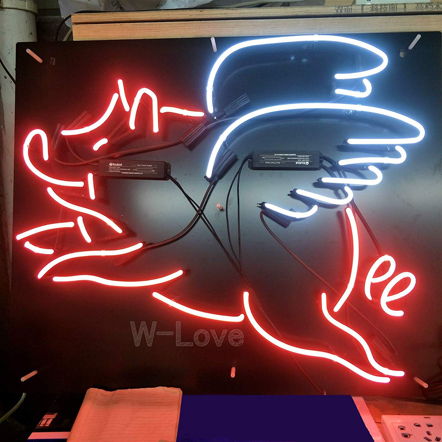 "Mirsne neon Signs, Glass Tube neon Lights, 19"" by 15"" inch Flying Pig neon Signs with Black Background, The Best neon Sign Custom Supplied for a Wide Range of Personal uses."
